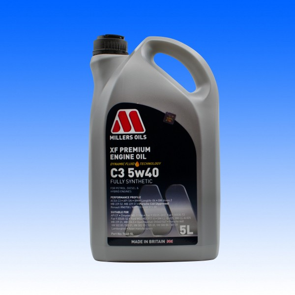 Millers SAE 5W40 XF Longlife, 5 Liter