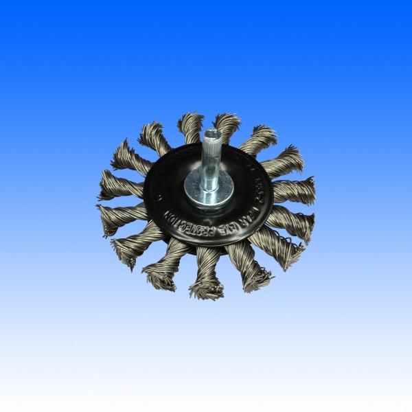 Rhodius Stahl-Rundbürste 75 mm mit Schaft