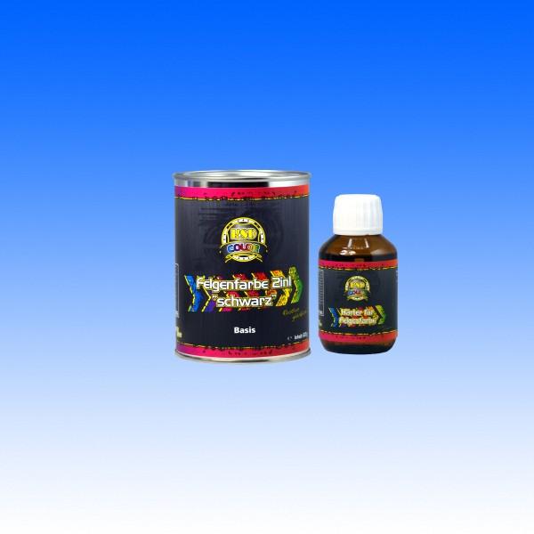 Felgenfarbe 2in1 schwarz seidenglanz, 600 g