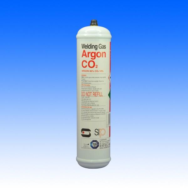 Argon-CO2 Einweggasflasche, 390g