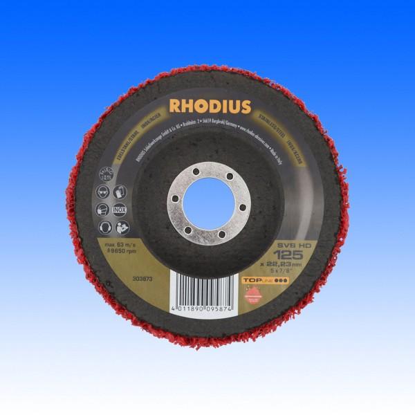 Rhodius SVS Vliesreinigungsscheibe HD rot, 125mm