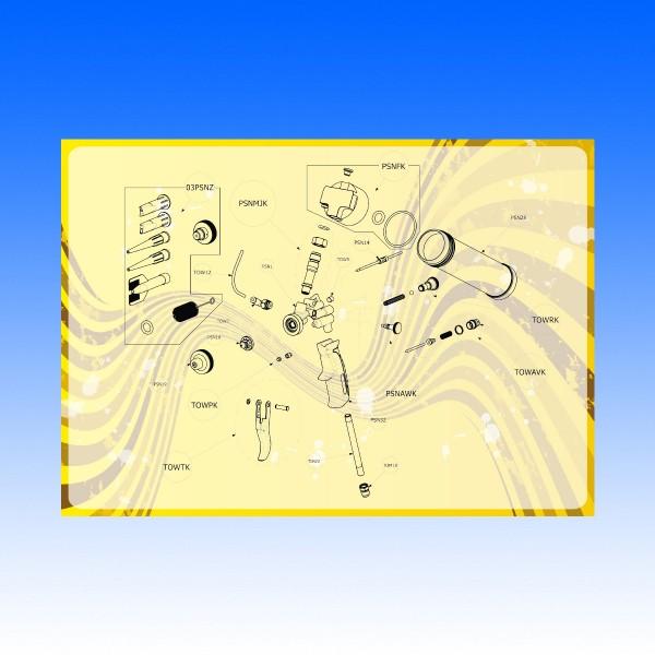 Explosionszeichnung Kartuschenpistole