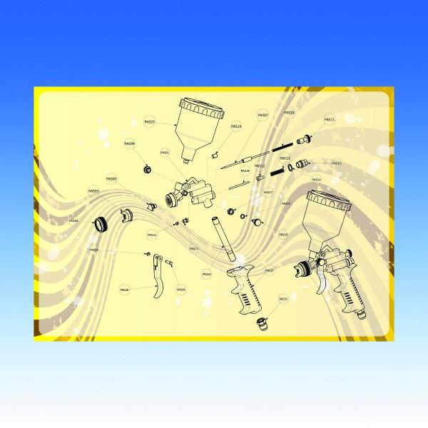 Explosionszeichnung Pik-Azzo