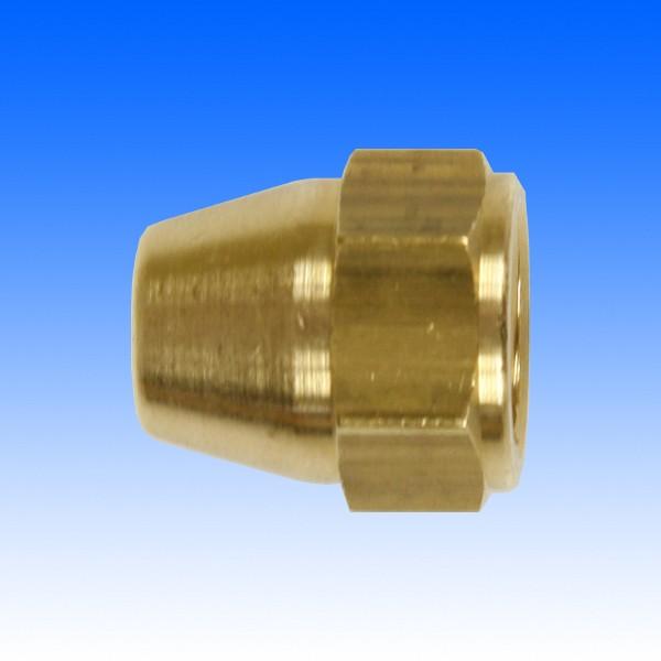 """Messing-Überwurfmutter, 3/8"""";-24UNF, SW14, 17.5 mm"""