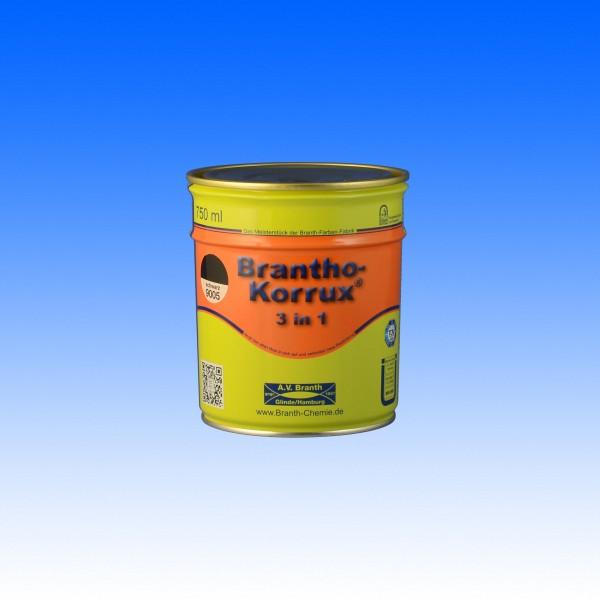 Brantho Korrux 3in1, RAL 9005 schwarz, 750 ml