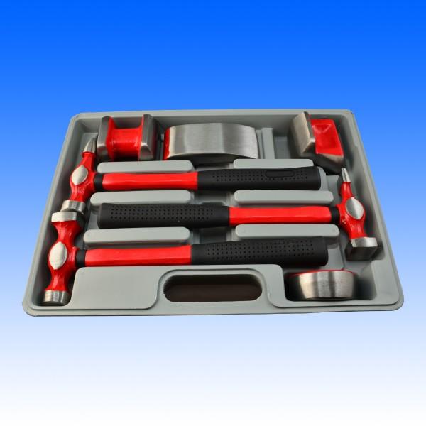 Koffer 1 mit 7 Ausbeulwerkzeugen, robuste Hobbyqualität