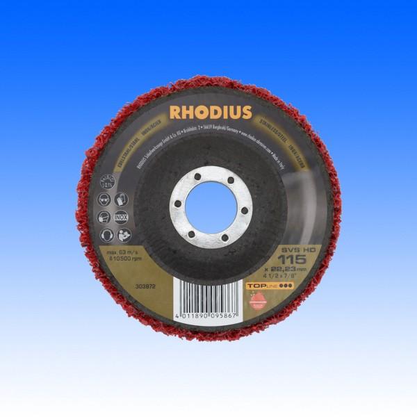 Rhodius SVS Vliesreinigungsscheibe HD rot, 115 mm