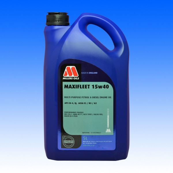 Millers Maxifleet SAE 15W/40, Youngtimeröl, 5 Liter