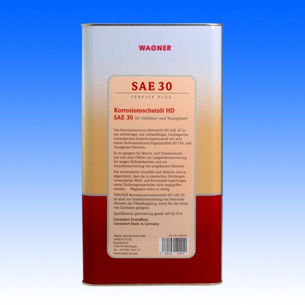 Konservierungsöl HD SAE30, 5 Liter