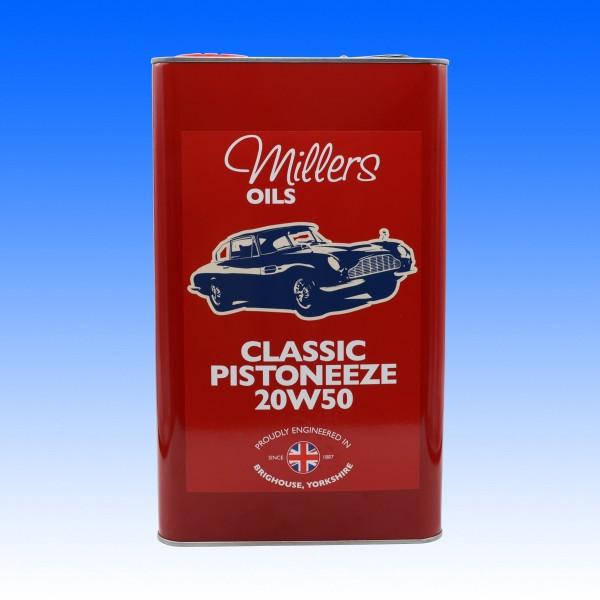 Millers Classic Pistoneeze 20W50, 5 Liter