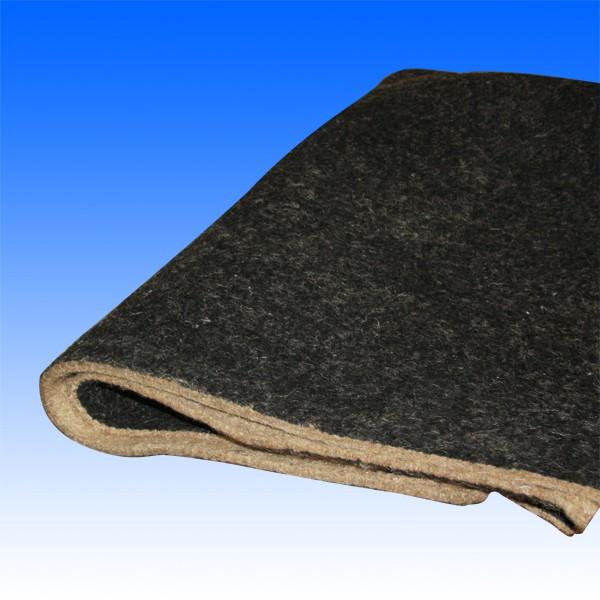 Dämmfilz mit Beschichtung, 1 cm stark, ca. 90x135 cm