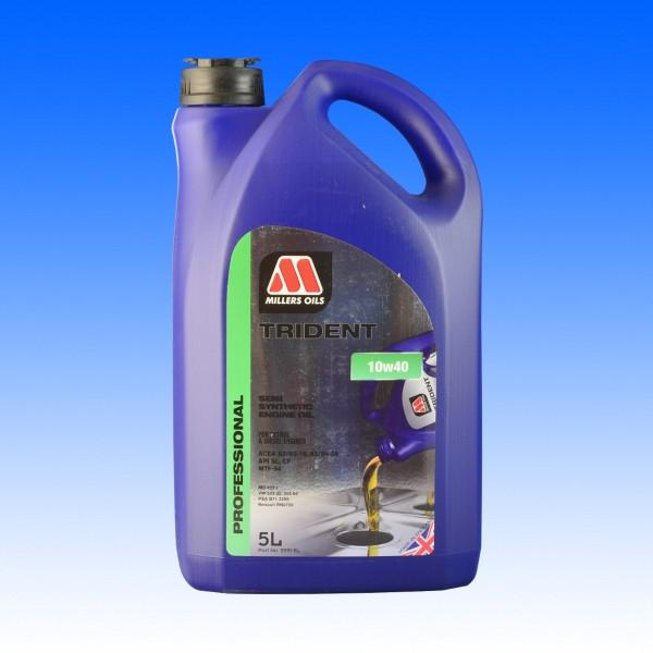Millers Trident SAE 10W/40, Youngtimeröl, 5 Liter