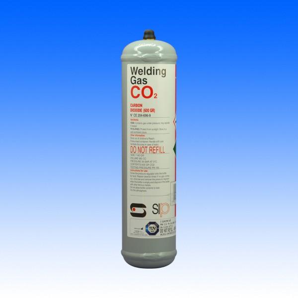 Einweggasflasche CO2, 600g