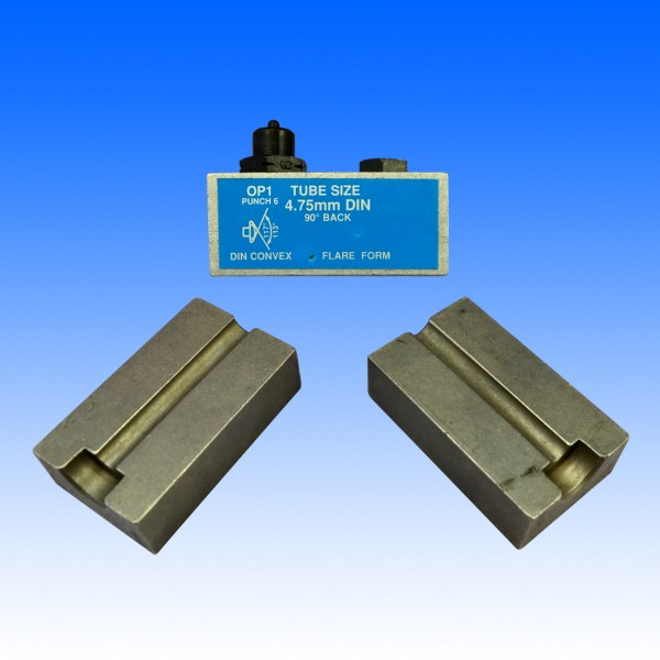 Bördel-Druckstück für 4.75 mm DIN F 180°
