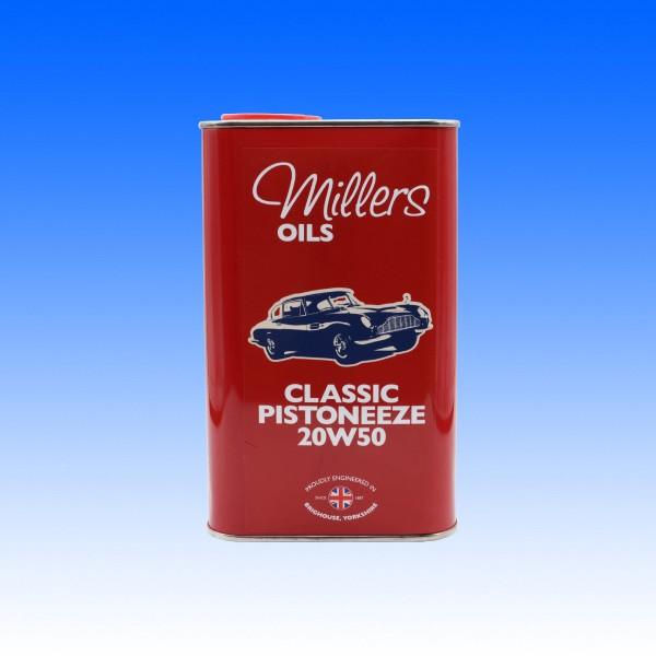 Millers Classic Pistoneeze 20W50, 1 Liter