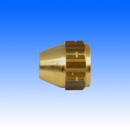 Messing-Überwurfmutter, M10x1 17.5mm lang
