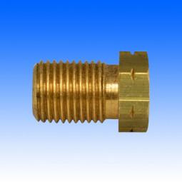 Messing-Überwurfschraube, M10x1 (ohne Absatz), Länge 17,5 mm